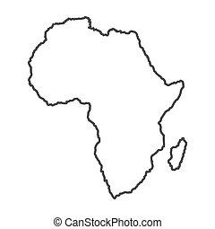 תאר, אפריקה, מפה, עולם