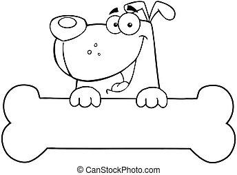 תאר, דגל, מעל, עצם, כלב