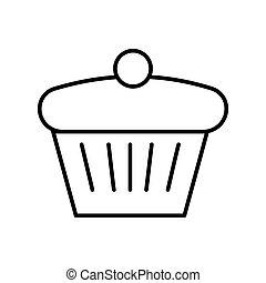 תאר, הפרד, לבן, לצבוע, רקע., עוגה, page.