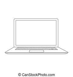תאר, וקטור, מחשב נייד, דוגמה