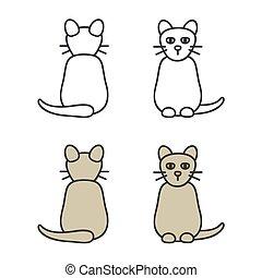 תאר, חתול, דוגמה
