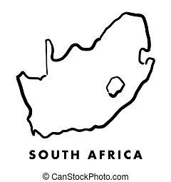 תאר, מפה, אפריקה, דרום