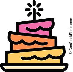 תאר, מצחיק, סיגנון, עוגה, איקון, יום הולדת