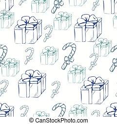 תאר, מתנה, תבנית, seamless, קופסות, canducane