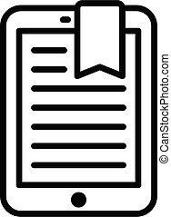 תאר, סיגנון, איקון, קדור, ebook