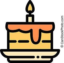 תאר, סיגנון, עוגה, איקון, ביתי, יום הולדת