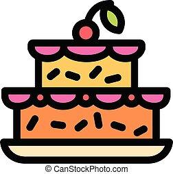 תאר, סיגנון, עוגה, דובדבן, איקון, יום הולדת