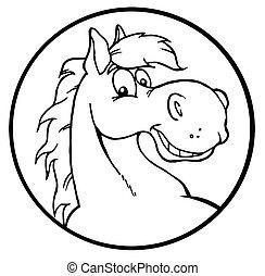 תאר, שמח, סוס, ציור היתולי