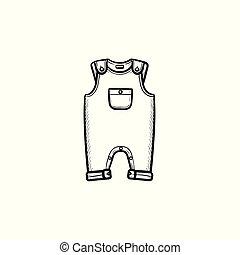 תאר, שרבט, העבר, לבש, תינוק, צייר, icon., חתיכה