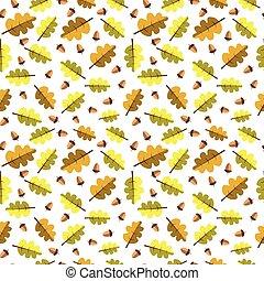 תבל, עוזב, נפול, קישוט, seamless, צהוב, סתו, תבנית של רקע