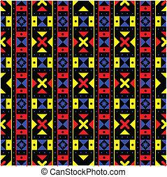 תבנית, גיאומטרי, אפריקני