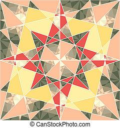 תבנית, גיאומטרי, וקטור, קבע, seamless