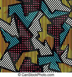 תבנית, גיאומטרי, צבע, seamless
