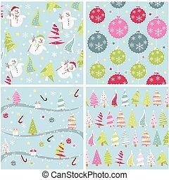 תבנית, טקסטורה, seamless, חג המולד