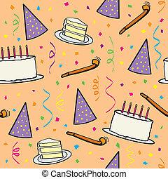 תבנית, יום הולדת, seamless
