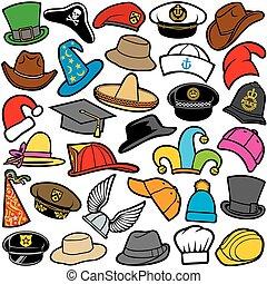 תבנית, כובעים שונים, seamless