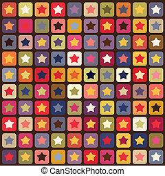 תבנית, כוכבים, seamless, צבעוני