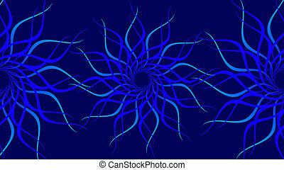 תבנית, להסתבב, צבעוני, גלים, רקע., תקציר, לוליין כחול