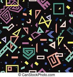 תבנית, סיגנון, וקטור, ממפיס, seamless