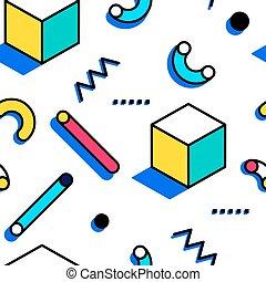 תבנית, סיגנון, ממפיס, seamless