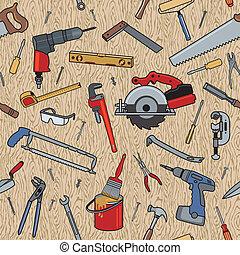 תבנית, עץ, כלים