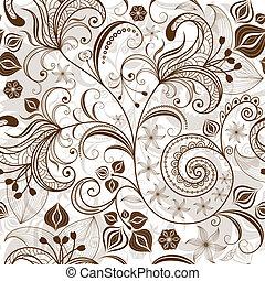 תבנית פרחונית, לחזור על, white-brown