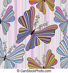 תבנית, פרפרים, *עם פסים, seamless