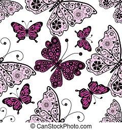 תבנית, פרפרים, seamless