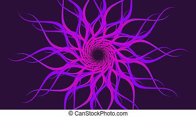 תבנית, צבעוני, להסתבב, גלים, סגול, רקע., תקציר, הסתבב
