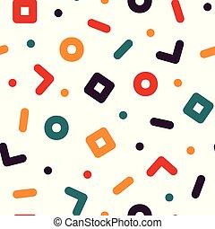תבנית, צבעוני, עצב, גיאומטרי, 90s, seamless, -, ממפיס, סיגנון, 80s, *עכשיוי, רקע.