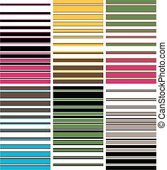 תבנית, צבעוני, פס