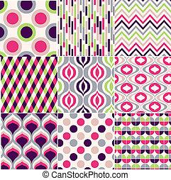 תבנית, צבעוני, seamless, גיאומטרי