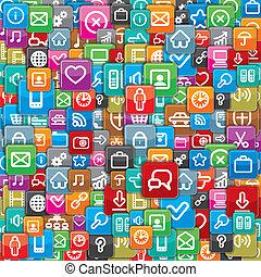 תבנית, שונה, וקטור, apps, icons.