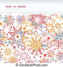 תבנית של רקע, קרע, seamless, כוכבים, ארוג, אופקי, חג המולד