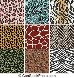 תבנית, seamless, עור של בעל החיים