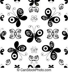 תבנית, white-black, seamless