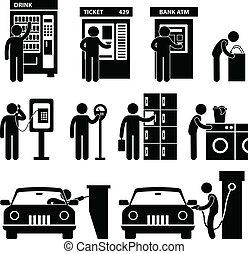 תגמר, להשתמש, איש, ציבור, מכונית