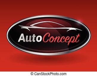 תג, מכונית, צללית, רכב, ספורט, לוגו, כרום, מושג