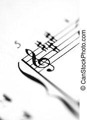 תוצאה של מוסיקה, דף, התמקד, g-clef