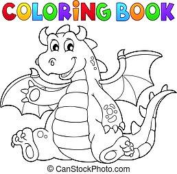 תימה, לצבוע ספר, דרקון