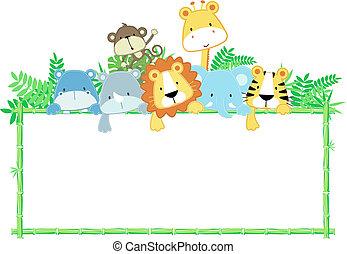 תינוק, חמוד, הסגר, בעלי חיים, ג'ונגל