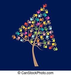 תינוק, מדפיס, עץ, צבעוני, העבר