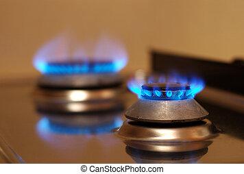 תנור, גז