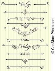 תפאורה, יסודות, עצב, עמוד, calligraphic