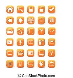 תפוז, איקונים של רשת, כפתורים