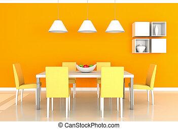 תפוז, סעודה, חדר מודרני