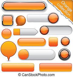 תפוז, buttons., high-detailed, מודרני