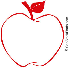 תפוח עץ, אדום, תאר