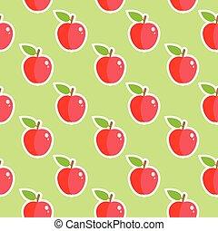 תפוח עץ, אוכל, תבנית, seamless, פרי, מבריק
