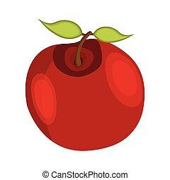 תפוח עץ, הודיה, דוגמה, style., וקטור, icon., ציור היתולי, יום